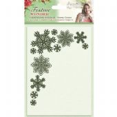 Crafters Companion - Signature Festive Wonder Collection - Snowy Corner 5x7 Embossing Folder - S-FW-EF5-SC
